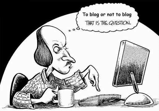 En torno a los blogs académicos para historiadores y humanistas I. To blog or not to blog. That is the question. Viñeta de humor en torno a los blogs.