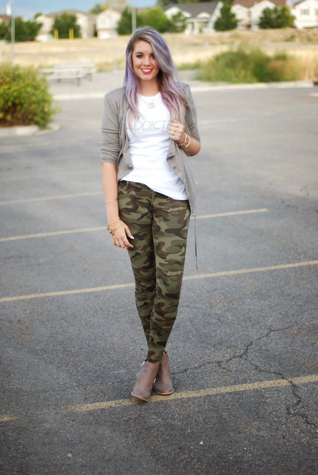 Lavendar Hair, Fall Outfit, Modest Outfit