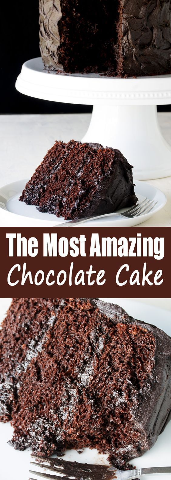 The Most Amazing Chocolate Cake is here. I call this my Matilda Cake because I swear it's just as good as the cake that Bruce Bogtrotter ate in Matilda. Moist, chocolatey perfection. This is the