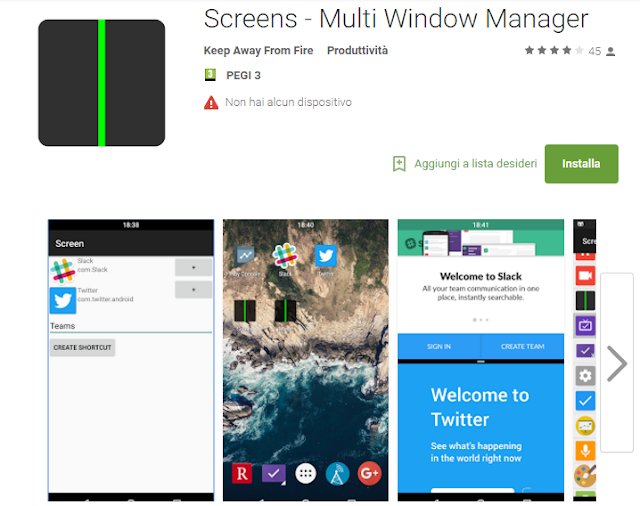 Screens – Multi Window Manager screen-shot