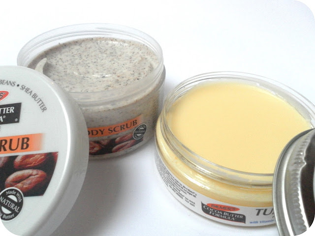 Palmer's Cocoa Body Scrub and Palmer's Cocoa Tummy Butter for Stretch Marks