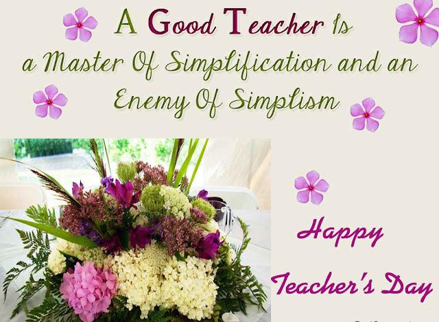 teachers wishes card