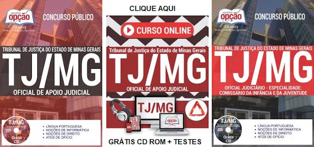 Apostila TJMG gratis curso online Técnico Judiciário e Oficial Judiciário