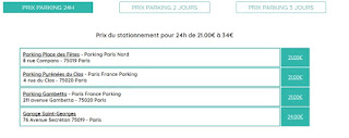 location parking paris mois