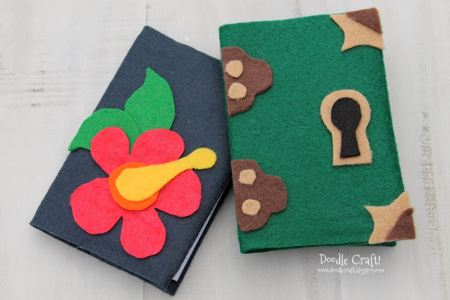 Decorate with more felt and glue. & Doodlecraft: Felt Journal Slipcovers!