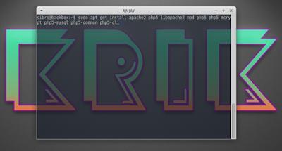 sudo apt-get install apache2 php5 libapache2-mod-php5 php5-mcrypt php5-mysql php5-common php5-cli