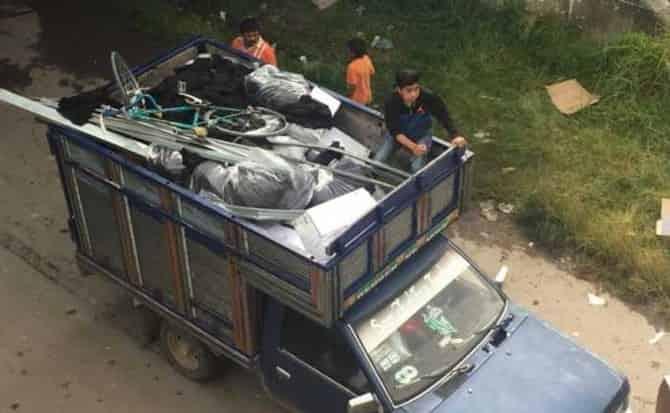 Transporte, toneladas, traslado