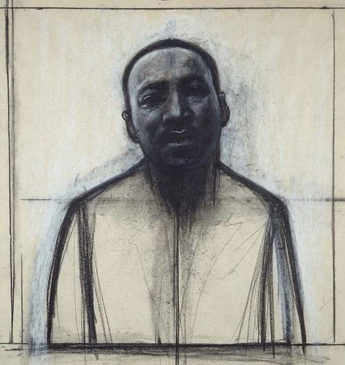 """John Wilson, """"Dr Martin Luther King Jr"""", 1985."""