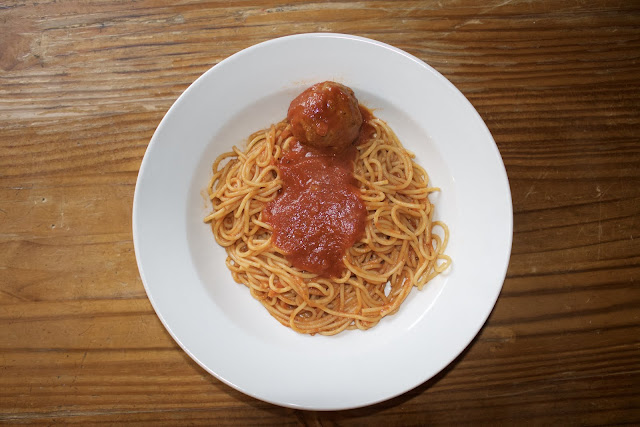 Spaghetti and Meatballs with Red Gravy