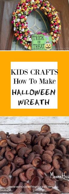 DIY Halloween Wreath Kids Crafts