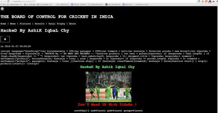 Bangladeshi hackers defaced BCCI website after Board approves ICC takeover proposal
