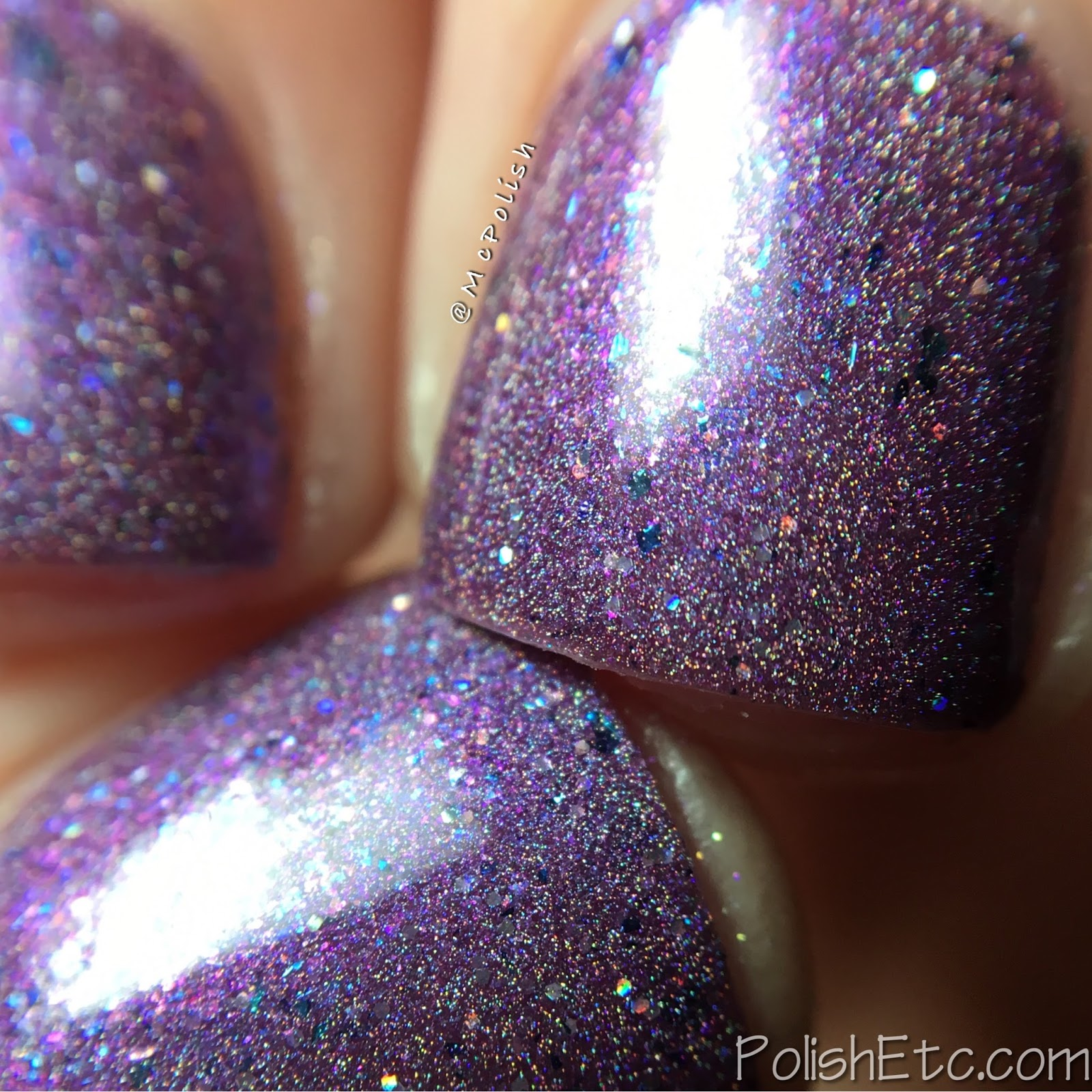 Indies Outside the Box: Fan-tastic Customs - McPolish - Freeze Frame by Girly Bits Cosmetics