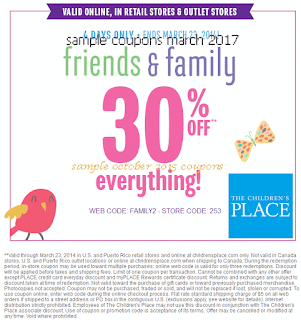 free Childrens Place coupons march 2017