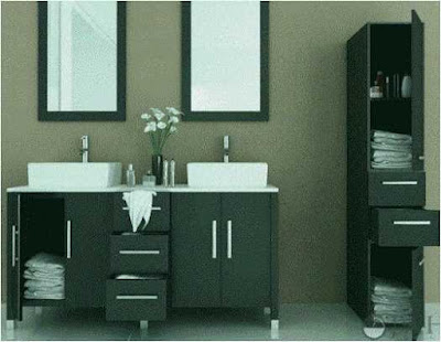 Simple Bathroom Color Ideas With Espresso Vanity