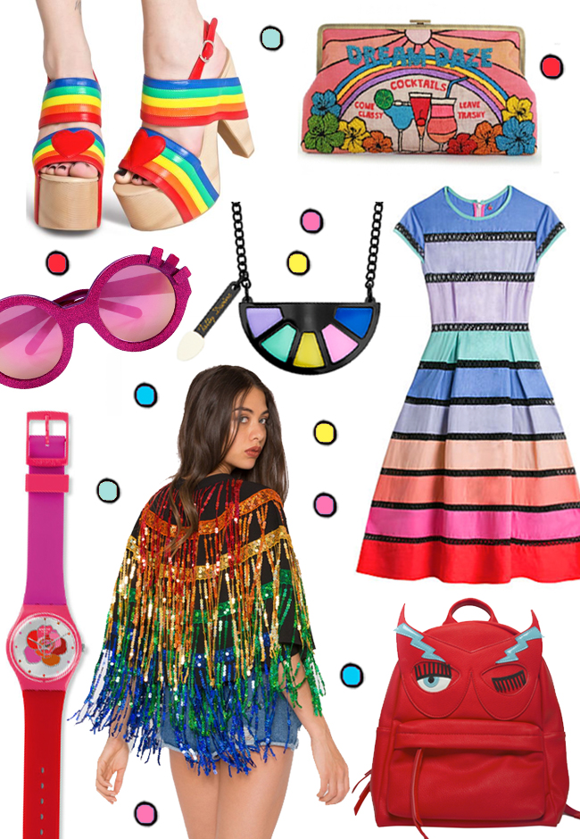 rainbow, fashion, shopping wish list