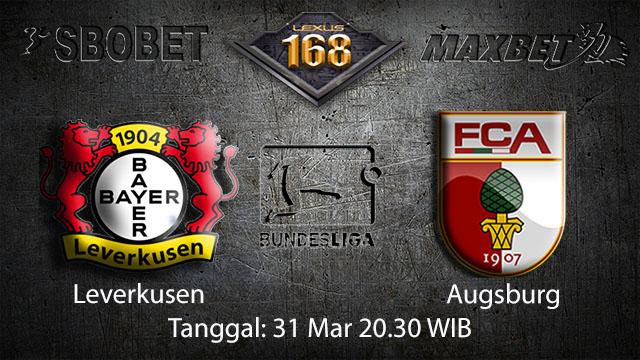 BOLA88 - PREDIKSI TARUHAN BOLA LEVERKUSEN VS AUGSBURG 31 MARET 2018 ( GERMAN BUNDESLIGA )