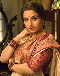 bollywood actress celebrity vidya balan in beautiful designer silk pattu saree