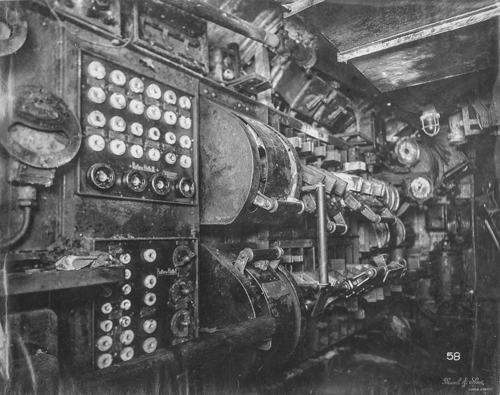 Electric control room.
