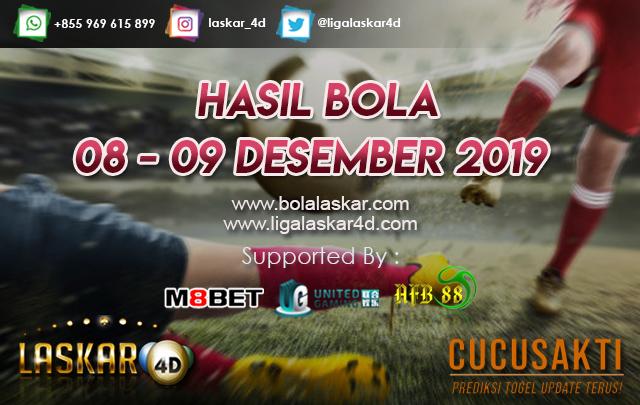HASIL BOLA JITU TANGGAL  08 – 09 Desember 2019