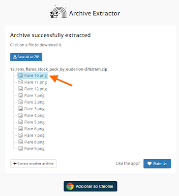 Baixar ficheiro do Archive Extractor