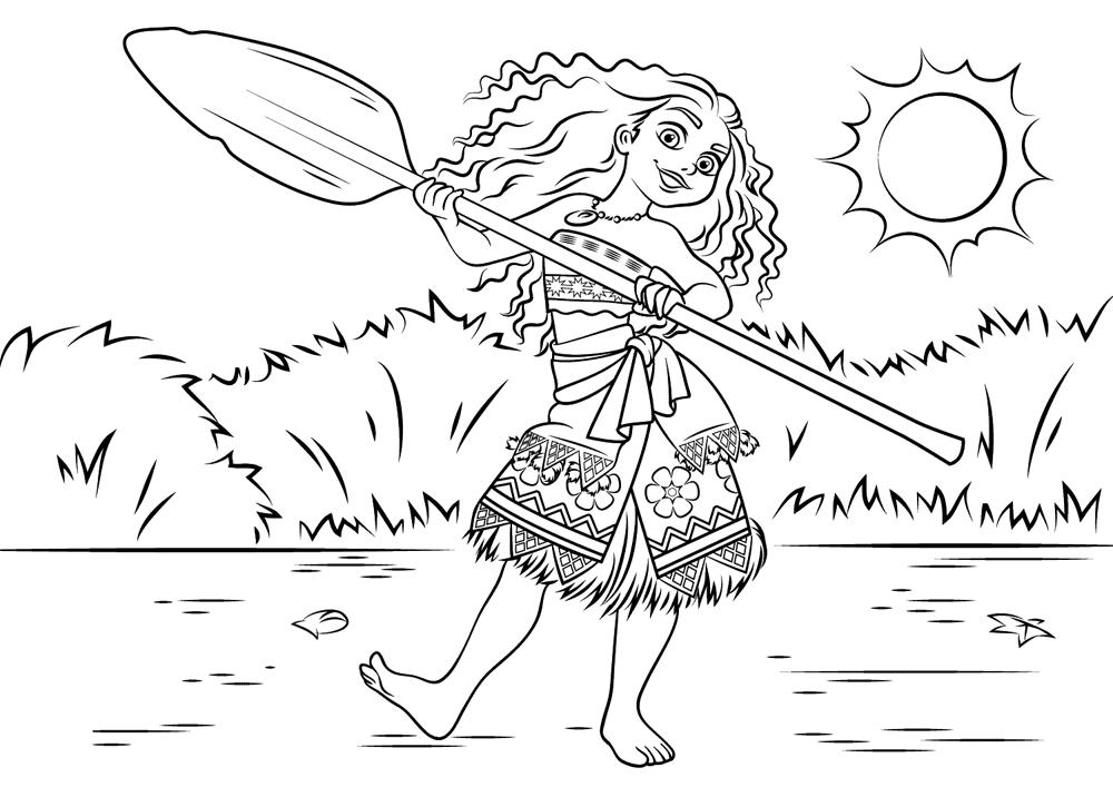 Dibujo Para Colorear De Maui Personaje Película Moana: Baú Da Web: Desenhos Moana Para Imprimir E Colorir