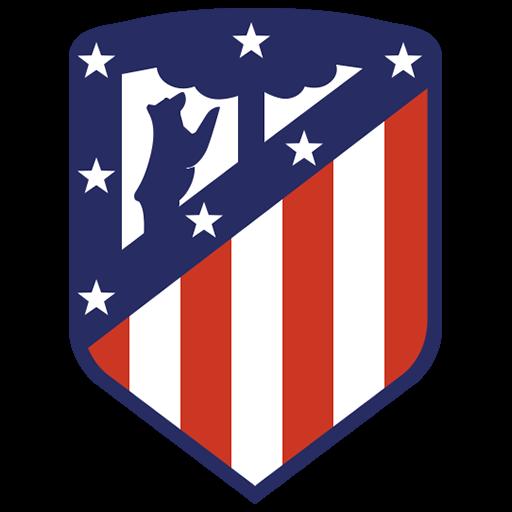 Fútbol: Imágenes del escudo del Atlético de Madrid de España