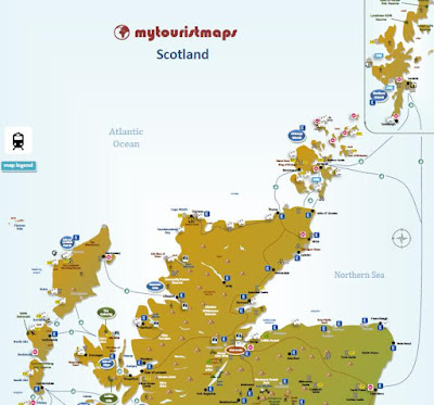 interactive tourist tourism travel map SCOTLAND
