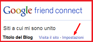 Come eliminare blog Blogspot che si segue Lettori Fissi Friend Connect  Blogger