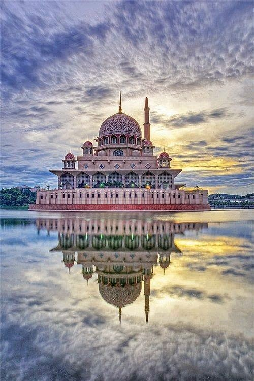 #19. The Putra Mosque in Putrajaya, Malaysia. - 19 Secret Travel Destinations You Never Knew Existed… Almost Nobody Knows About #17.