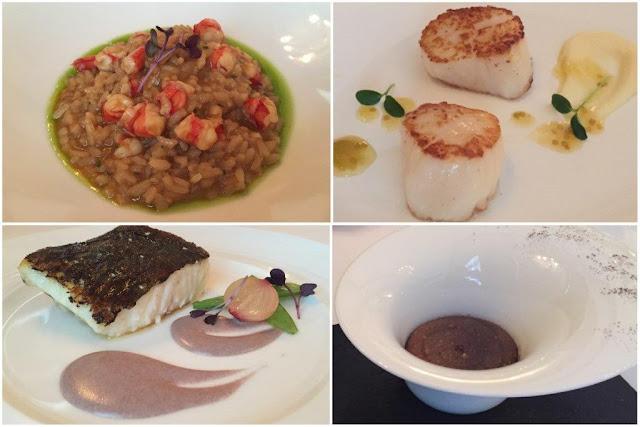 Platos en el Restaurante Zortziko de Bilbao