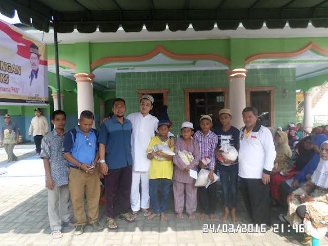 Berkhidmat Untuk Rakyat, PKS Medan Perjuangan Gelar Bakti Sosial dan Santunan Anak Yatim