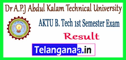 AKTU Dr. A. P. J. Abdul Kalam Technical University B.Tech 1st Semester Result 2017-18