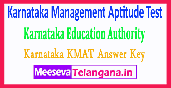 Karnataka Management Aptitude Test Education Authority KMAT KEA Answer Key 2018 Download
