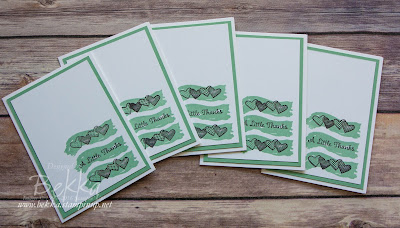 Sealed with Love Notecard Set made with Stampin' Up! UK products which you can buy here