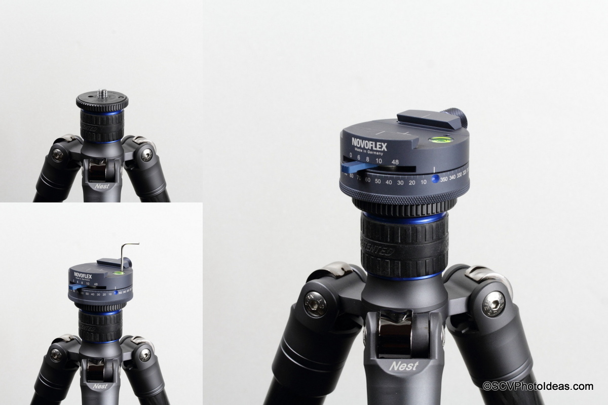 Novoflex Panorama=Q 6/8 II mounted and secured on tripod
