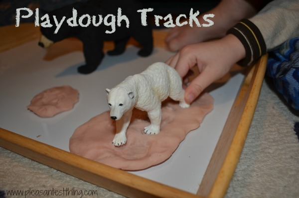 Using playdough to learn about animal footprints