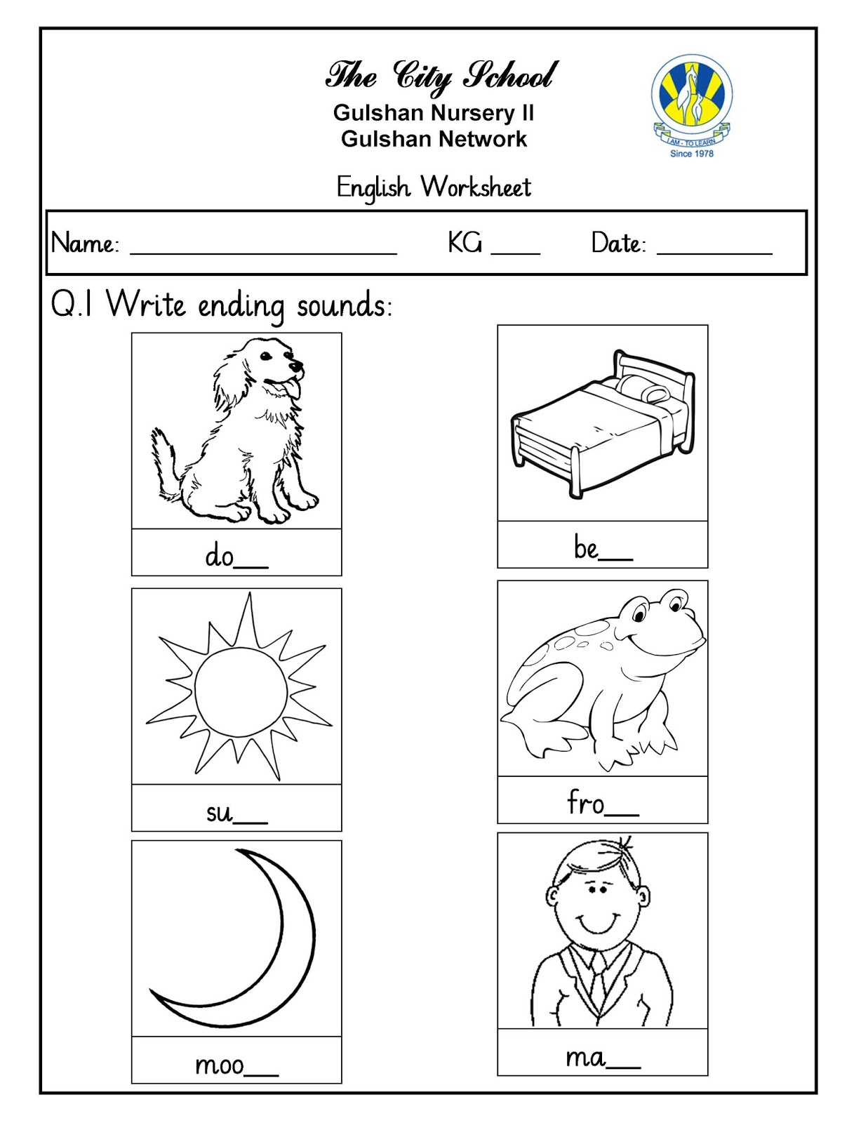15 English Worksheets Nursery Printable And Docx