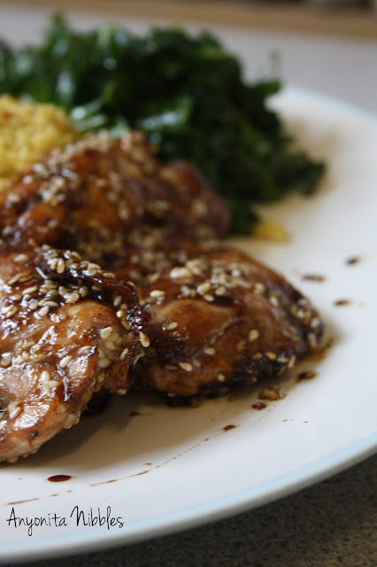 Sweet & Hot Baked Sesame Chicken Thigh Fillets from www.anyonita-nibbles.com