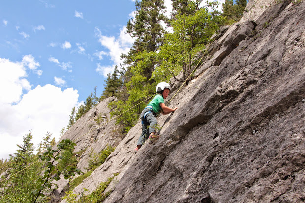 Outdoor Family Rock Climbing
