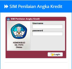 Aplikasi SIM Penilaian Angka Kredit Dari Kemdikbud