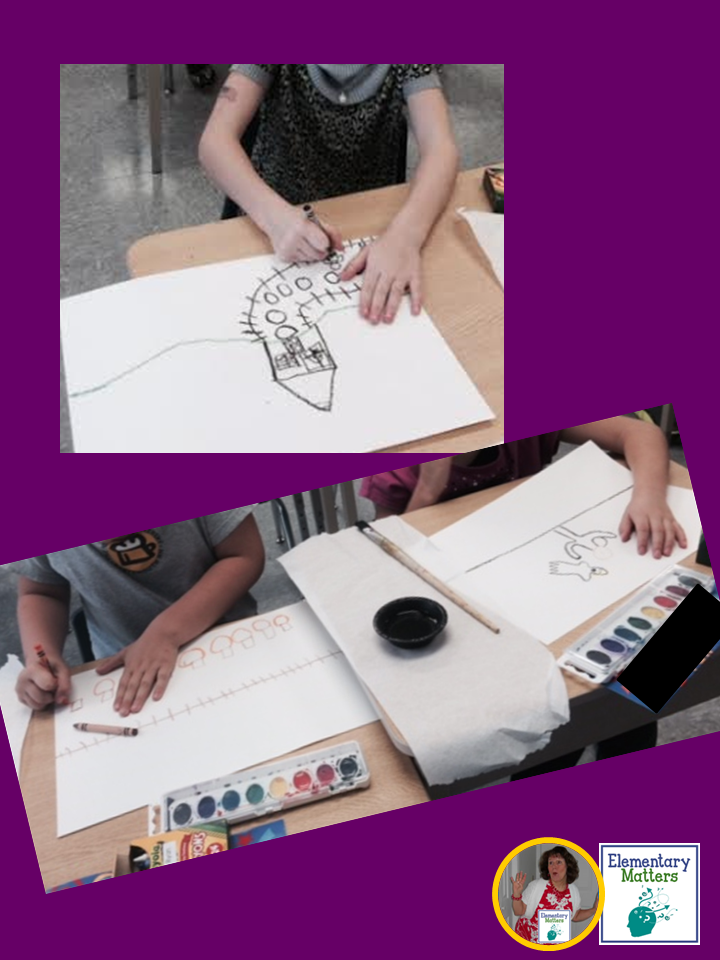 A Fun Art Project: Here are step by step direction a fun bat art project to integrate literacy with the arts. Plus, the kids love it!