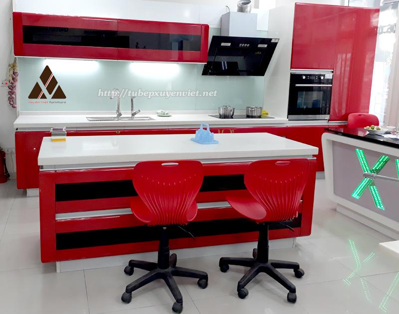 Tủ bếp đẹp bằng nhựa hiện đại số 176 Đường Láng, Hà Nội