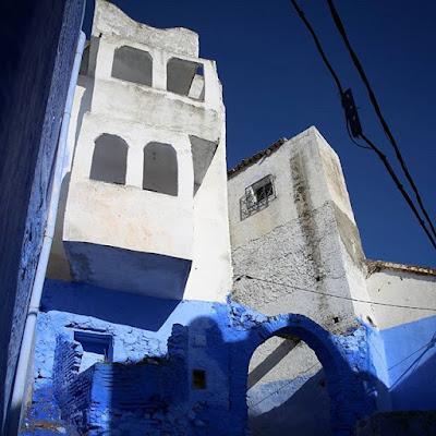 Blanco y azul en Chauen