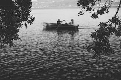foto sposa barca