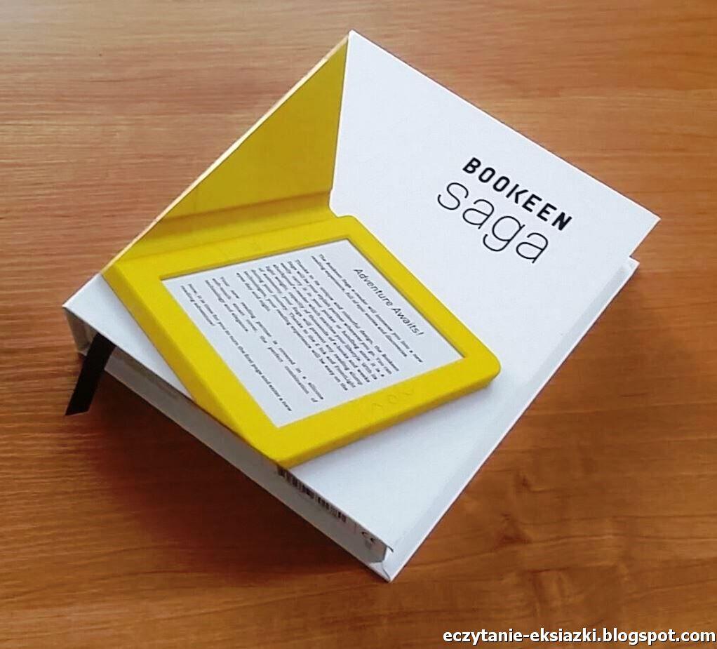 opakowanie czytnika Bookeen Saga przypomina książkę