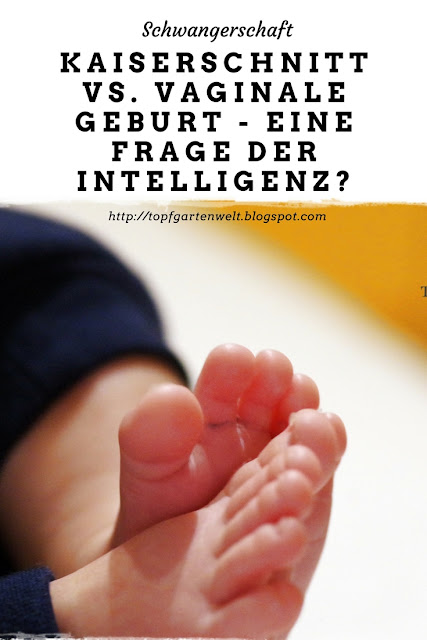 Kaiserschnitt vs. vaginale Geburt - eine Frage der Intelligenz - Gartenblog Topfgartenwelt #kaiserschnitt #vaginalegeburt #geburt #selbstbestimmung #meinungsfreiheit #intelligenz