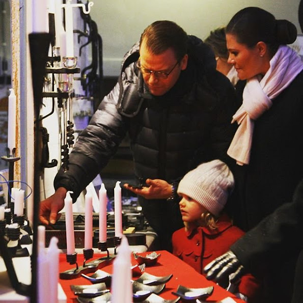 Crown Princess Victoria of Sweden, Princess Estelle, and Prince Daniel visited the Christmas Market