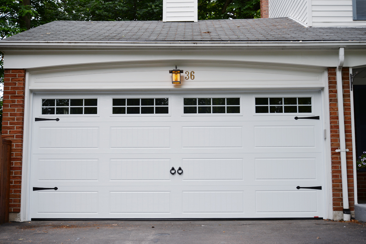 Improving our curb appeal a new garage door rambling for New garage