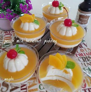 Ide Resep Masak Peach Milk Hazelnut Puding