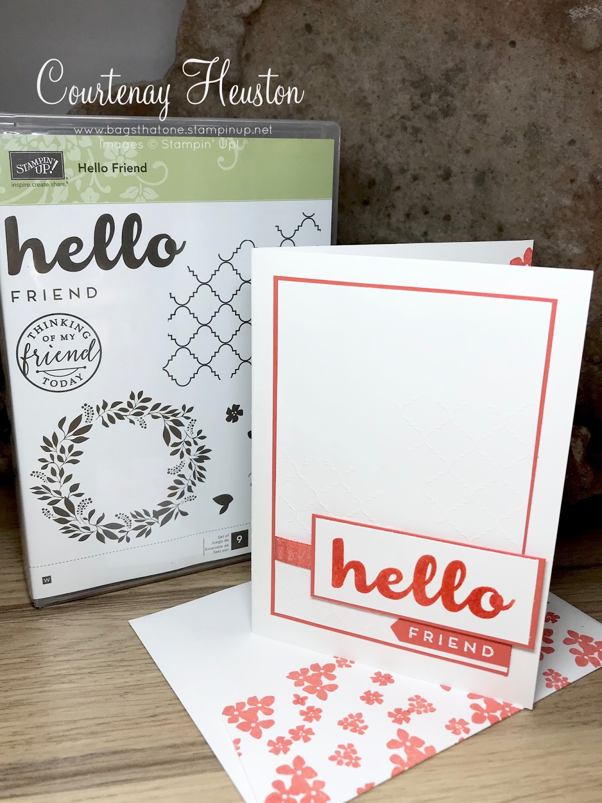 Bags That One Hello Friend Stampin Up Monochrome Inksomniacs